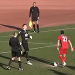 Футболисты «Астры» и «Погони» не забивают 3 пенальти и не дают подставным судьям повторить трюки из матчей российских клубов