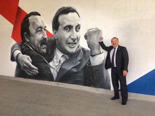 Валерий Газзаев остался в восторге от граффити со своим изображением на стадионе ЦСКА